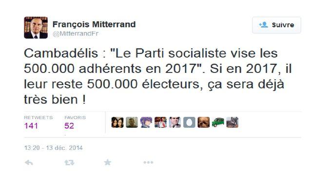 Compte Twitter François Mitterrand