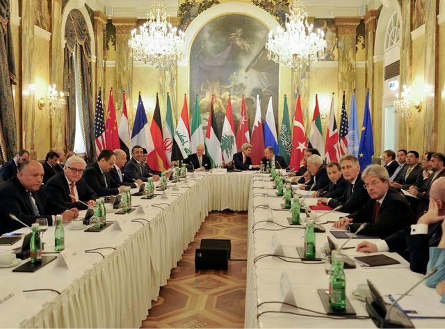 La réunion s'est ouverte vers 10h vendredi dans un grand hôtel de la capitale autrichienne