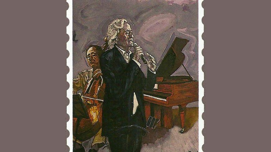 Le timbre à léffigie de Jordi Barre dessiné par WIlliam Fenech