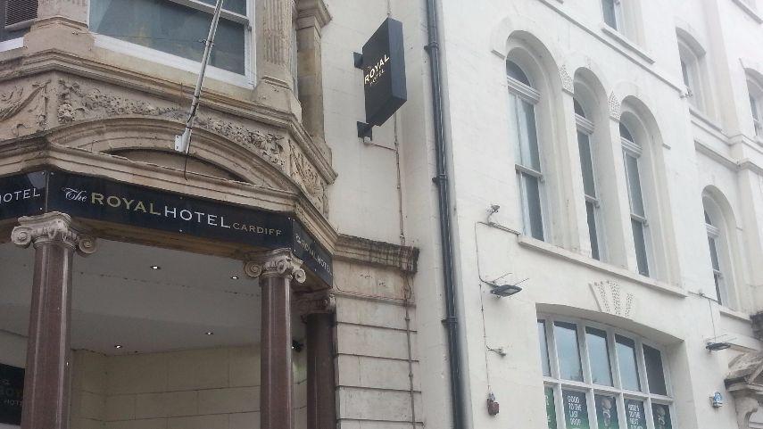 Le Royal Hôtel au centre de Cardiff.