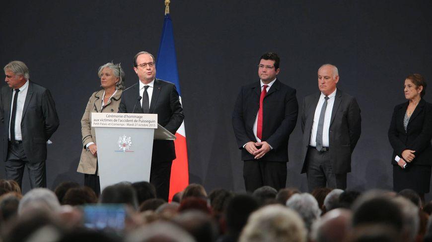 François Hollande à Petit-Palais a rendu hommage aux victimes