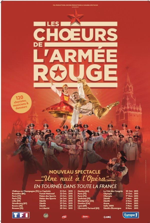 """Les Choeurs de l'Armée Rouge, nouveau spectacle """"Une nuit à l'Opéra"""""""