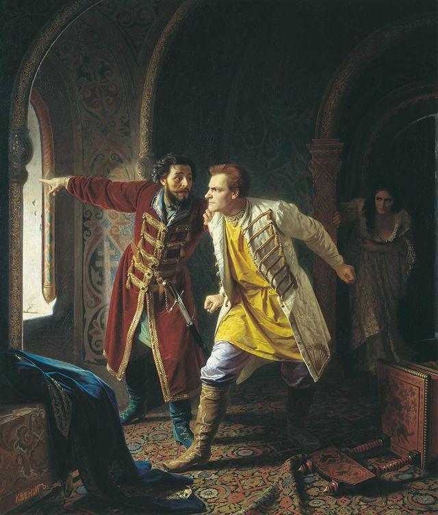 Les derniers instants du faux Dimitri par Carl Wening - 1879