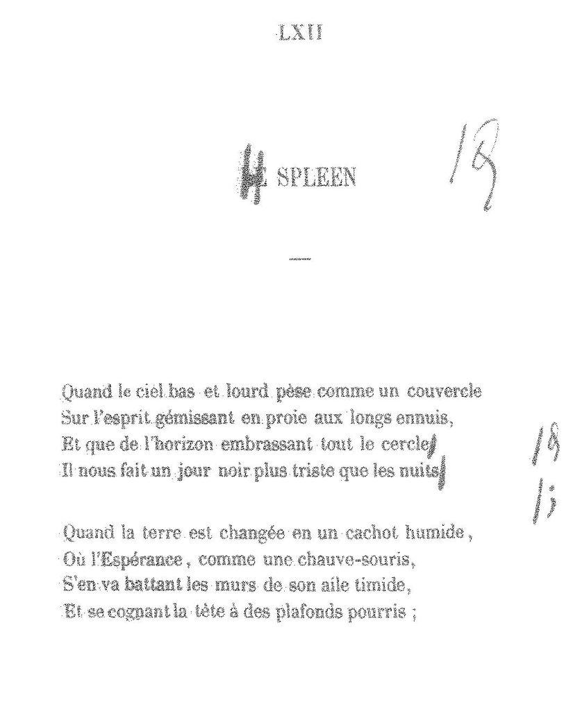 Série Baudelaire Le Passage à Lheure Dhiver Par Antoine
