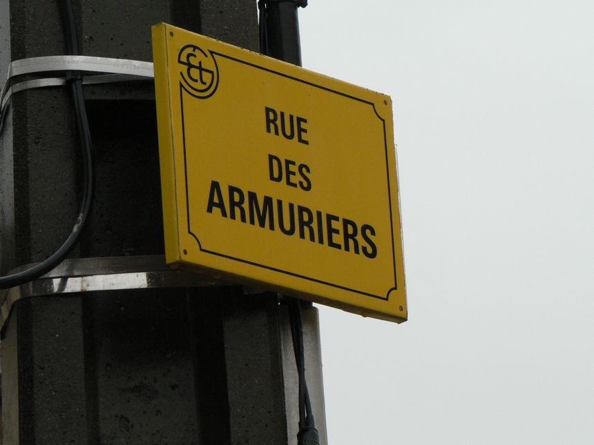 la rue des armuriers à Saint Étienne