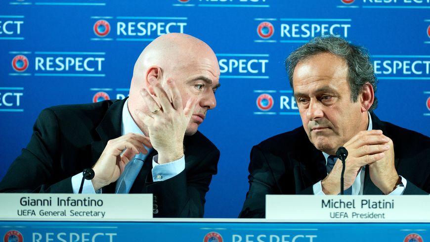 Platini et son bras droit à l'UEFA Infantino candidats à la tête de la FIFA