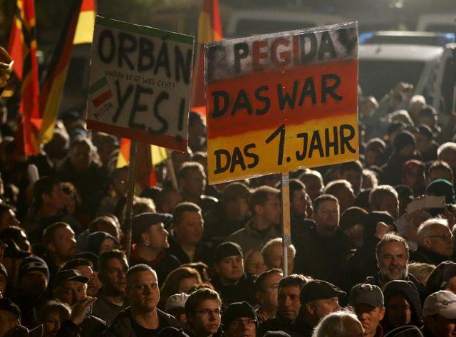Pegida manifeste contre l'immighration en Allemagne