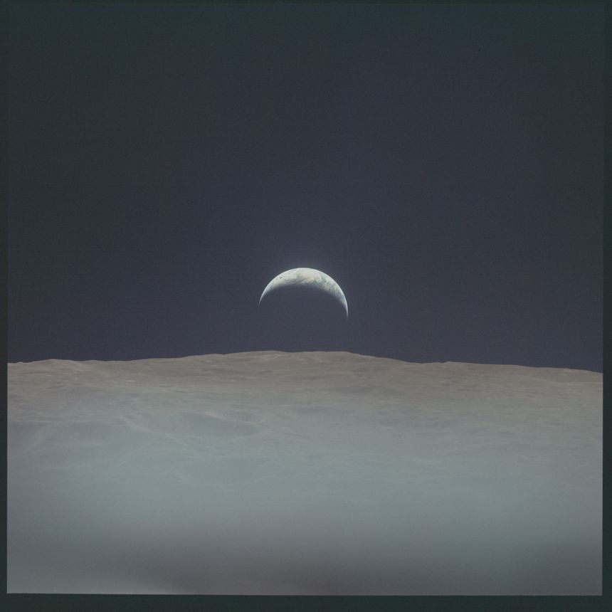 La Terre vue de la Lune, l'une des plus célèbres photos d'Apollo 12