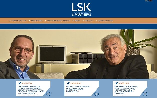 Capture d'écran du site DSK Partners