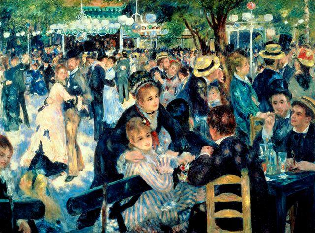 Bal au Moulin de la Galette, à Montmartre par Pierre Auguste Renoir