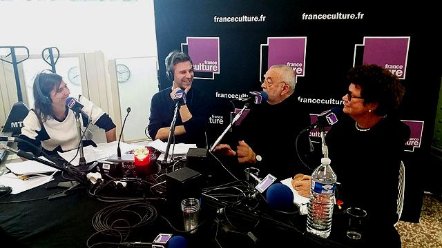 Plateau FIAC : Mathilde SERREL, Martin QUENEHEN, Claude RUTAULT et Chantal CROUSEL