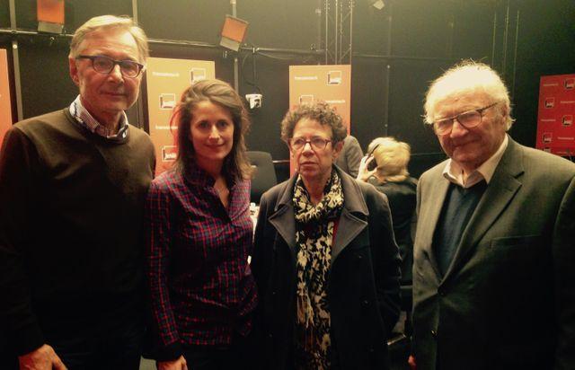 Gérard Courchelle, Sabrina Goldman, Annette Wierviorka et Roger Cukierman