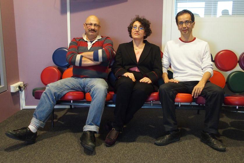 Marc Slyper, Marie-claire Martel et Dominique Laulanné