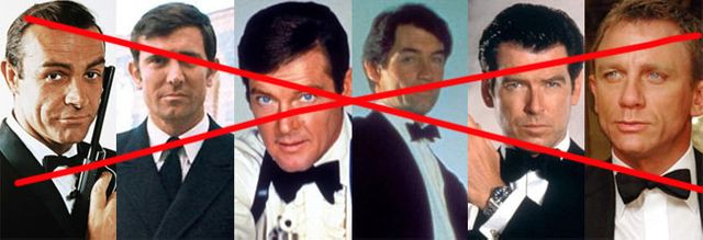 Les six figures de James bond