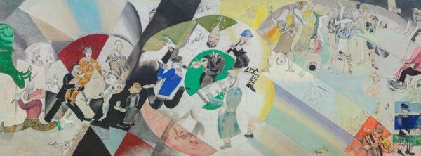 Introduction au théâtre d'art juif 1920 / CHAGALL MARC