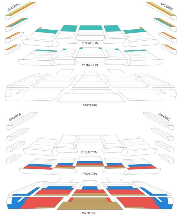 Plans de Bastille : en haut, les catégories 6, 7, et 8. En bas, les catégories Optima, 1, et 2