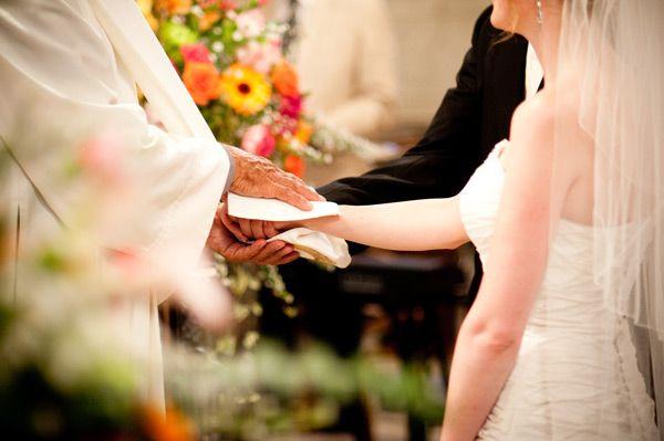 Bénédiction des époux lors d'un mariage