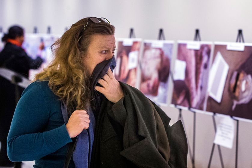 Des photos prises par César des exactions du régime syrien ont été exposées en mars 2015 aux Nations unies, à New York