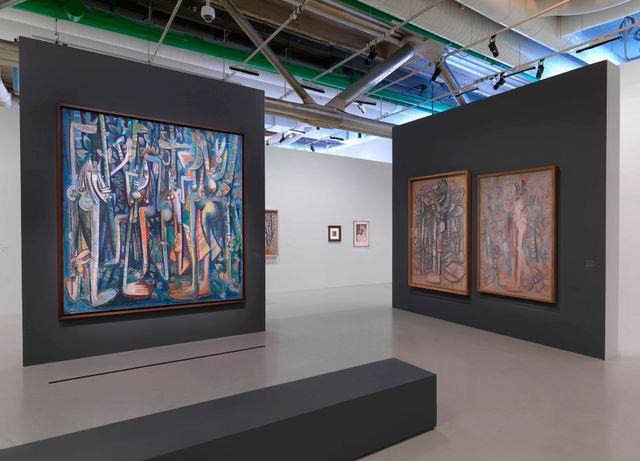 Vue de salle d'exposition Wifredo Lam