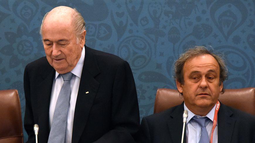 Sepp Blatter et Michel Platini en juillet 2015