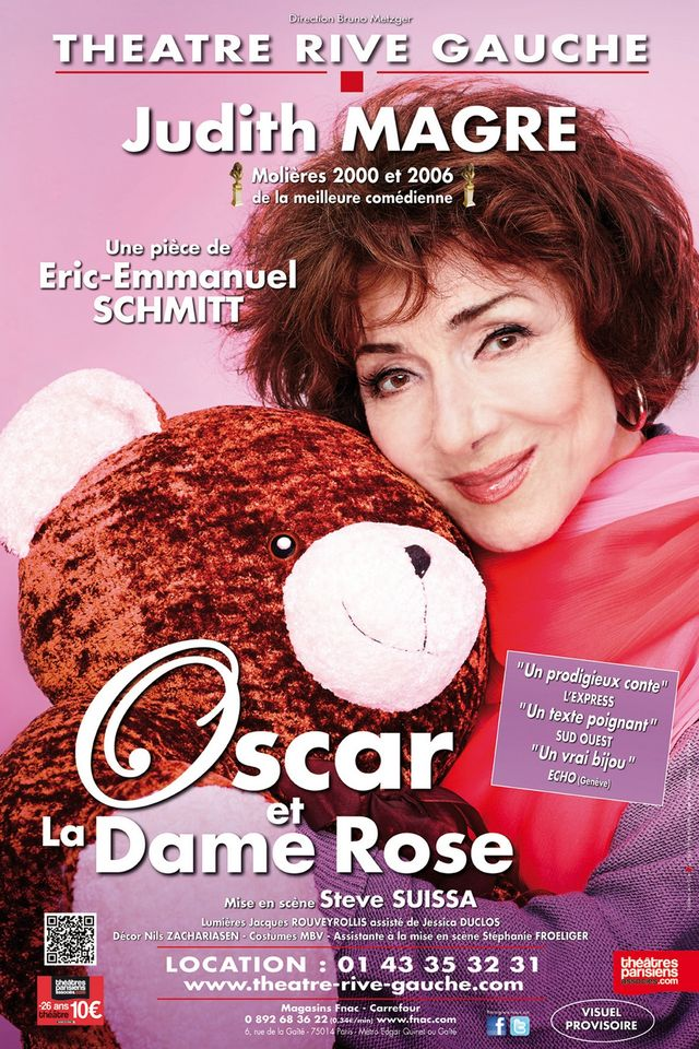 "Affiche ""Oscar et la dame rose"""