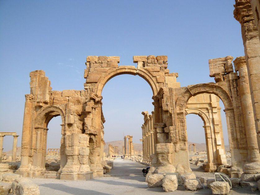 L'arc de triomphe de Palmyre, en 2010