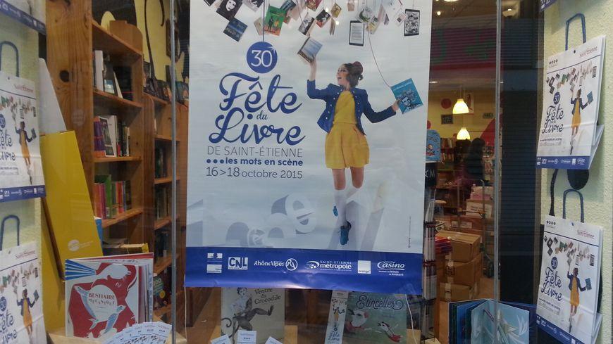La fête du livre s'affiche dans les vitrines des librairies stéphanoises