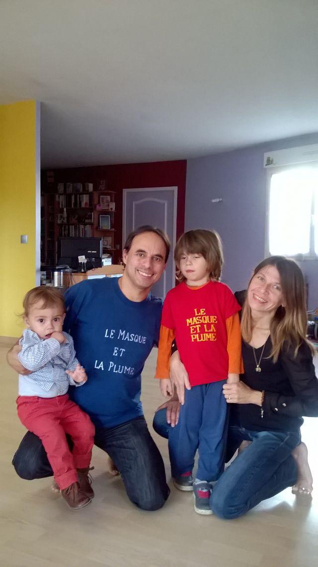 Pascal Eynard et sa famille
