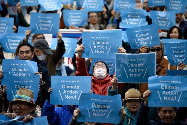 Manifestations au Japon avant la COP21