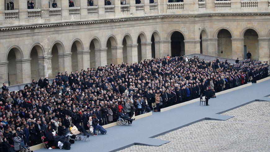 La cérémonie d'hommage aux victimes des attentats
