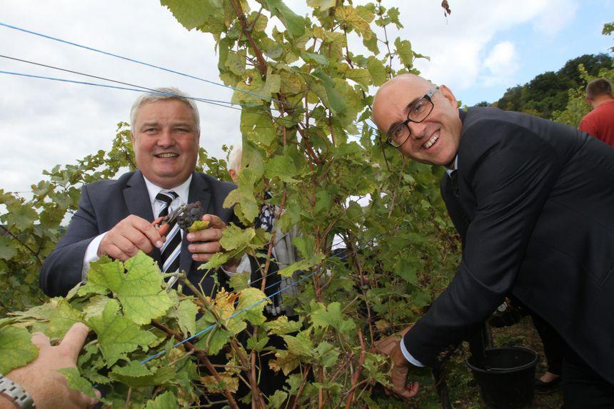Eric Straumann et Frédéric Bierry, les deux présidents du Haut-Rhin et Bas-Rhin