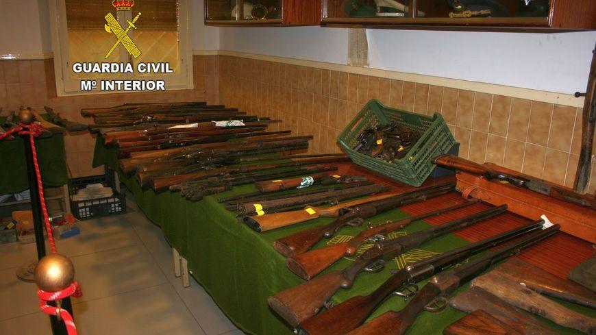 Les armes découvertes chez ce retraité espagnol