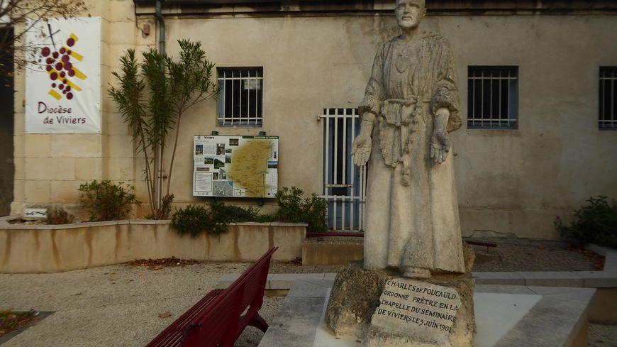 Une statue Charles de Foucauld au diocès de Viviers