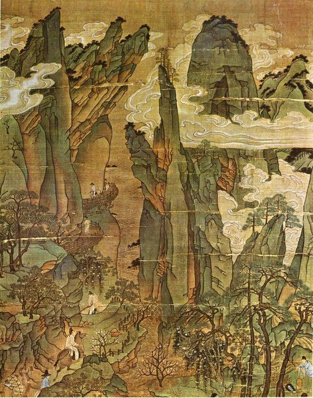 Voyage de l'empereur Minghuang vers Shu - XIème siècle