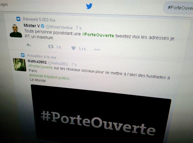 Le mot-clé #PorteOuverte s'est multiplié