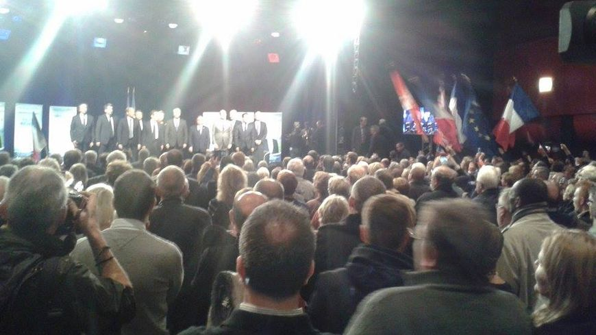 Régionales : meeting de Nicolas Sarkozy et Philippe Richert à Schiltigheim