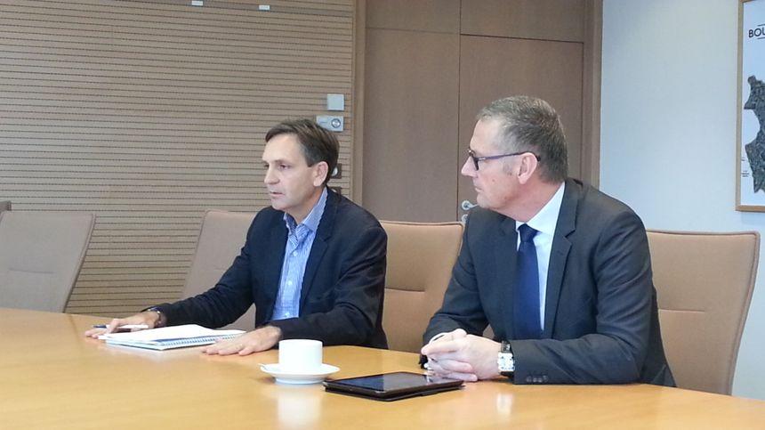 Philippe Mercier, premier adjoint et Pascal Blanc, maire de Bourges