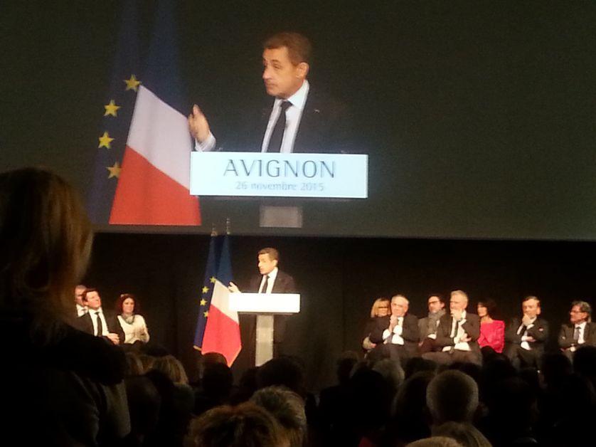 Nicolas Sarkozy à Avignon soutient la candidature de Christian Estrosi aux régio