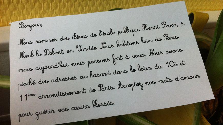 Le petit mot d'amour envoyé à des Parisiens choisis au hasard, dans l'annuaire