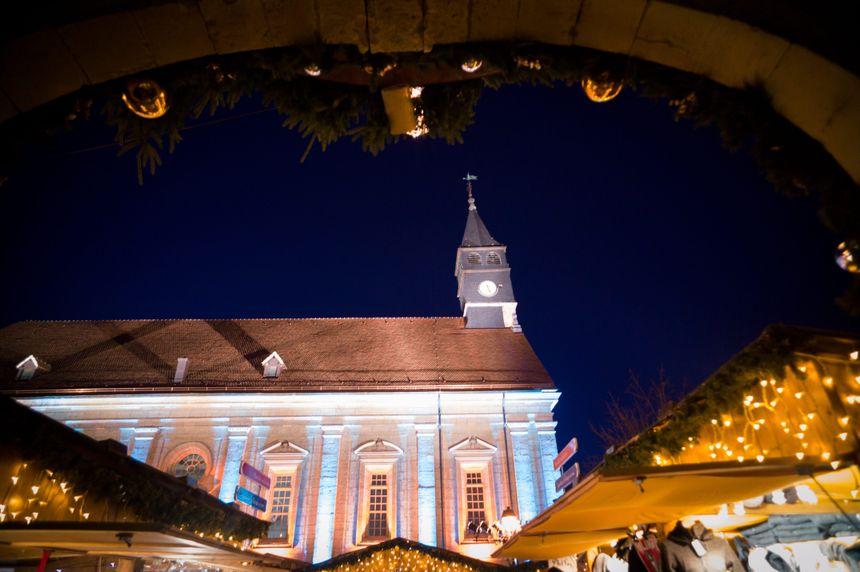 Le marché de Noël de Montbéliard.