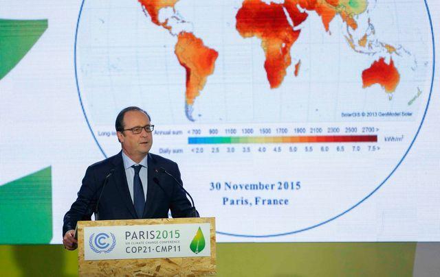 François Hollande, première journée de la COP21