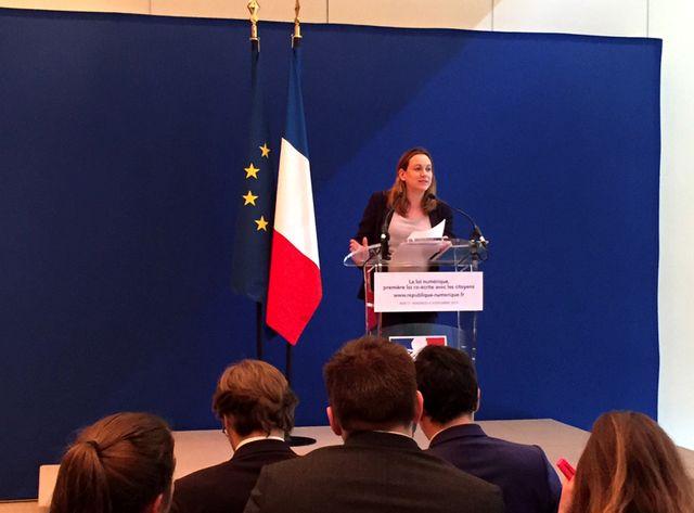 Axelle Lemaire présente le projet de loi numérique