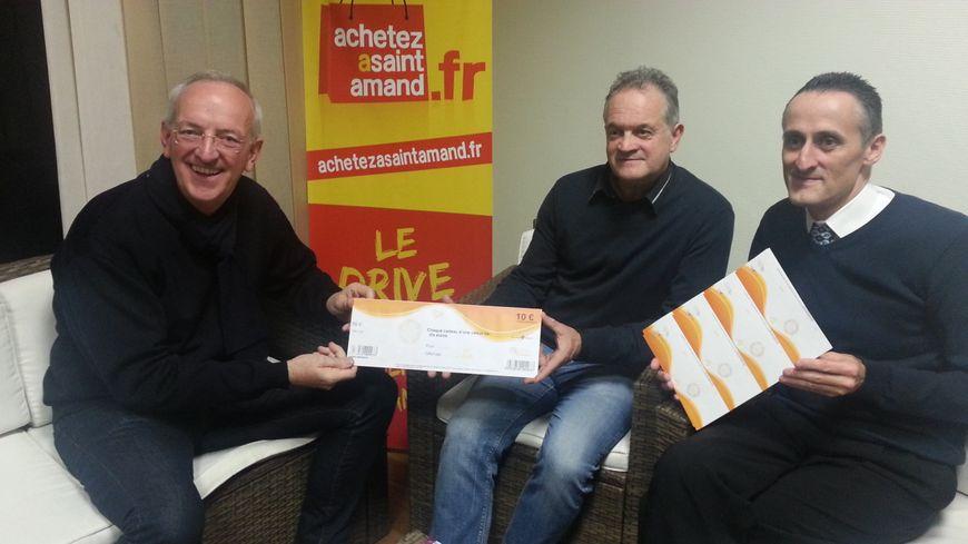 Thierry Vinçon, à gauche, Fabrice Maufrond et David Lecomte