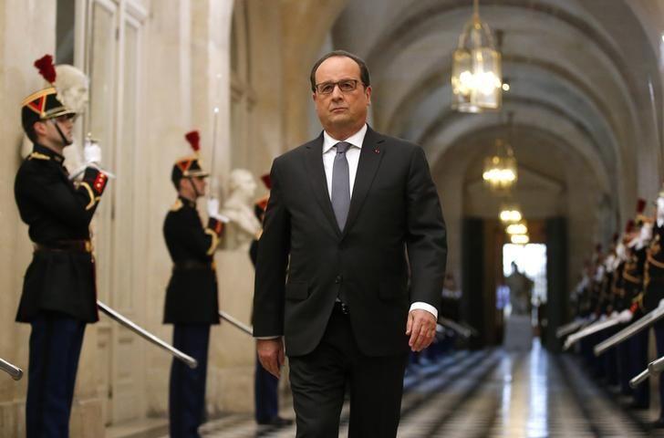 François Hollande devant le Parlement réuni en Congrès, à Versailles, le 16 novembre 2015