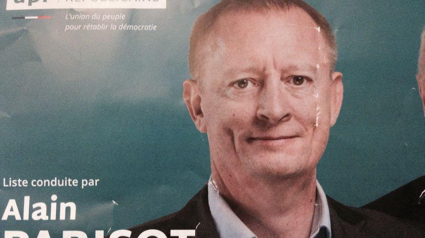 Alain Parisot (UPR) sur un tract de campagne des élections régionales