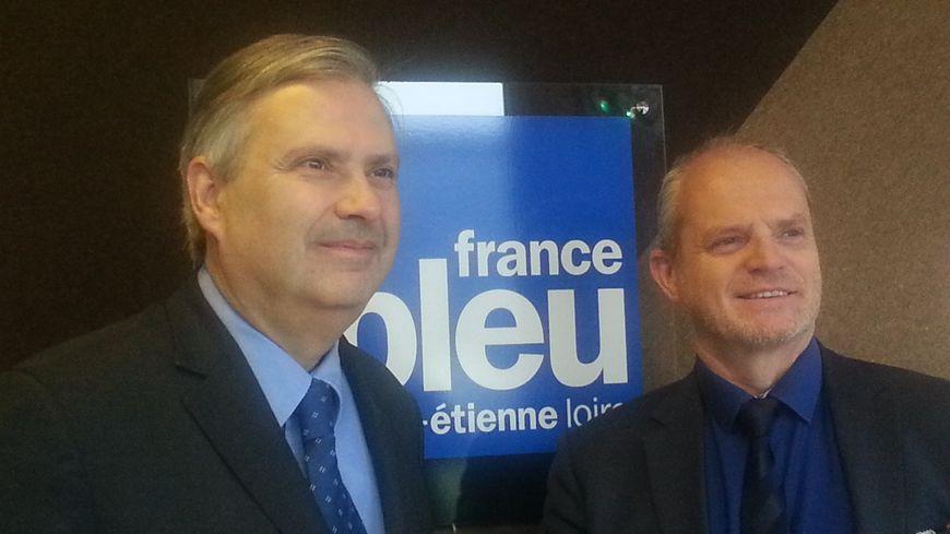 Gerbert Rambaud et Jacques Berlioz, candidats de Debout la France.