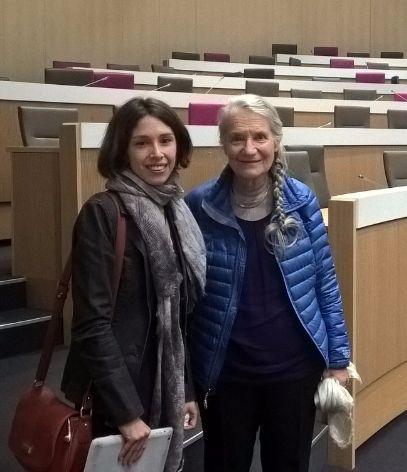 Maryvonne Delataille et Anne-Marie Cocula, élues régionales émues après l'hommag