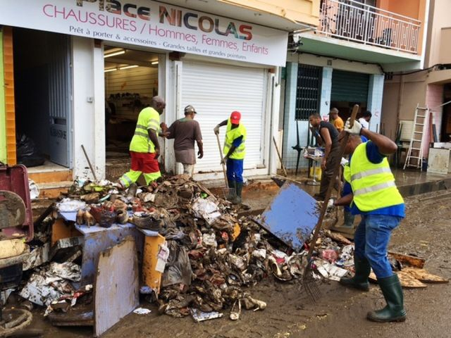 Martinique, les inondations, exemple à Rivière Pilote