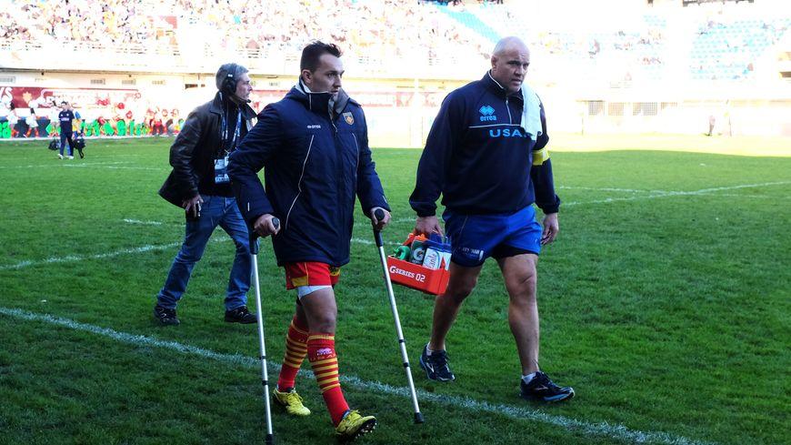 Dewaldt Duvenage, blessé dès la première minute contre Colomiers