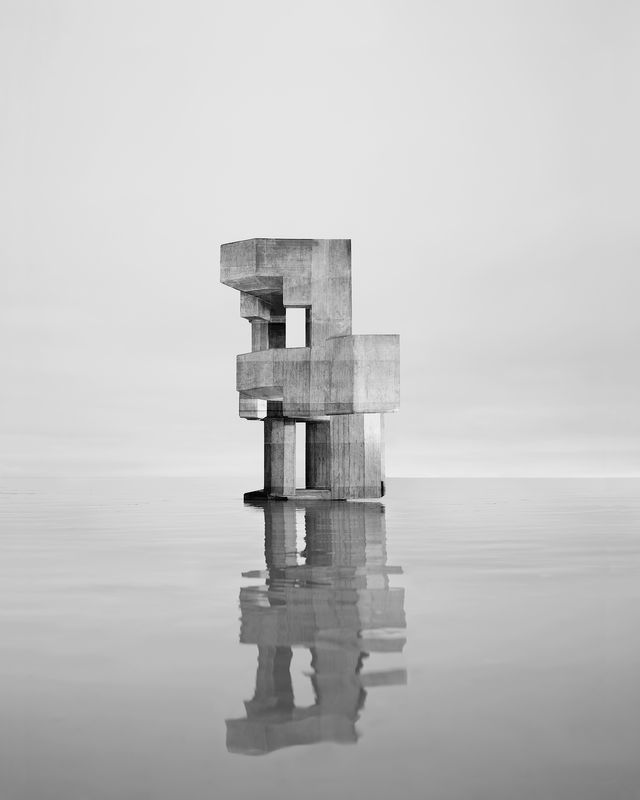 Noémie Goudal Observatoire VIII Série The Geometrical determination of the Sunrise, 2014